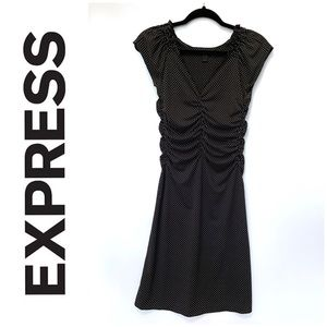 small black EXPRESS dress m/white polka